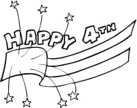 fourth of July Coloring Page for toddlers & Preschoolers