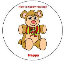 Teddy bear feelings for an all about me theme, teddy bear lacing activity