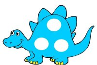 Blue Dinosaur Pompom Match up – learn color blue