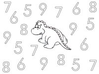 Dinosaur Numbers – Color The Numbers