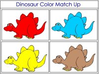 Dinosaur Color Match Up Game