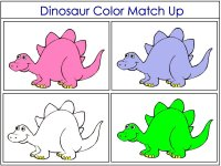 Dinosaur Color Match Up Game more colors