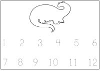 Dinosaur Numbers – Trace the numbers