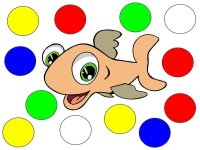 Fish color game teaches colors