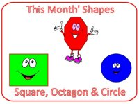 Preschool Junes Shapes are square, circle & octagon
