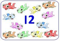 Preschool number 12 twelve display poster