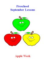 Preschool September – Apple Week Lesson Plans