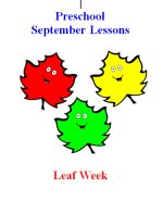 Preschool September – Leaf Week Lesson Plans