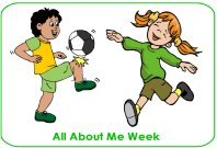 All About Me week poster