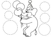 Math Activity Elphant Tracing Circles