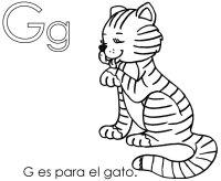 Letra G, G es para gato, aprender letra G