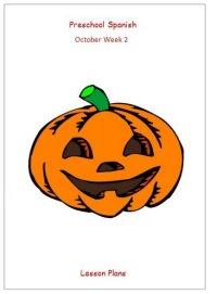 Preschool Spanish October Lesson Plans