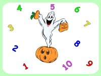 Printable game – ghost game for Halloween