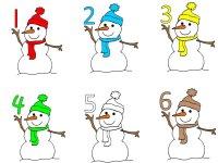 Six Little Snowmen