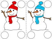 Snowman memory game