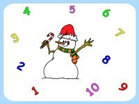 Printable game – Snowman game for Winter