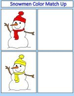 Snowman Color Match Up Game
