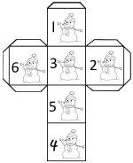Snowman Cube Die