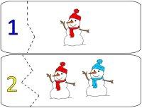 Snowmen Number Puzzles