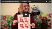 Preschool Christmas Theme Video –Learning Letters H, I, J, k