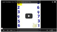 Number 7 Worksheet for preschool children learning their numbers, teach children their numbers.