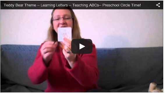 Teddy Bear ABC's for preschool children learning their letters