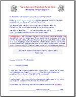 Acceptance Form – Preschool Acceptance Form