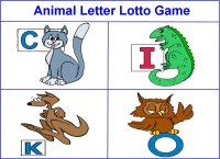 Animals Letter Lotto Game