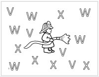 Fireman Letters VWX Worksheet