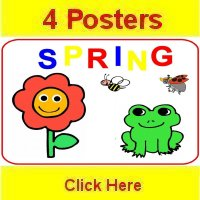 Toddler April curriculum includes 4 themed posters