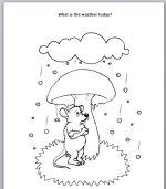 Weather Story for preschool kids