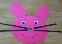 Bunny craft for bunny, lamb and chick farm animal theme