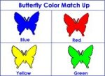 butterfly Color Match Up Game for caterpillar to butterfly Theme week