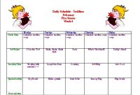 Toddler – Activity Calendar