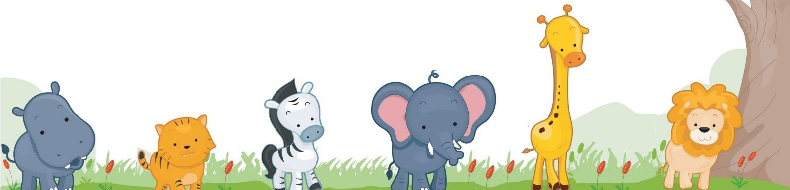 Zoo Animals Border For Contact Us Page
