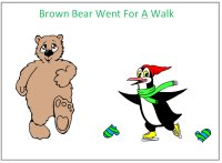 Brown Bear went for a walk – print out