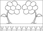 Flower Letter Y Worksheet