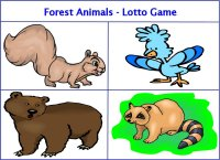 Forest Animals Lotto Game