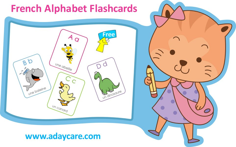 picture relating to Printable French Flashcards titled French Alphabet Flashcards No cost Down load ABCs Preschool