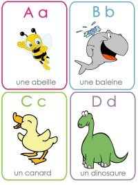 Free French Alphabet Flashcards For Kids