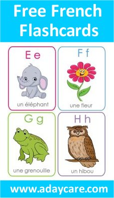 photo relating to Printable French Flashcards referred to as French Alphabet Flashcards Free of charge Down load ABCs Preschool