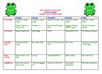 Freddy Frog & Friends Week – Activity Calendar