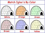 Match the igloos by color