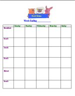 daycare food menu template - daycare forms flyers food menus brochures tax