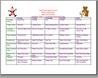 December Infant curriculum calendar for Christmas and Hanukkah lesson plans for baby's ages 6 to 9 Months