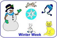 Infant Curriculum for baby 6 to 9 months for December Week 2 winter theme