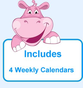 Infant Weekly Calendar for baby lesson plans