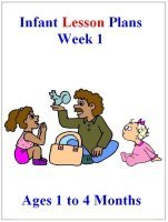 August Infant curriculum for ages 1 to 4 months week 1