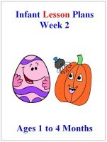 August Infant lesson plans for ages 1 to 4 months week 2