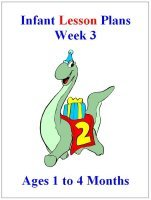 August Infant curriculum for ages 1 to 4 months week 3